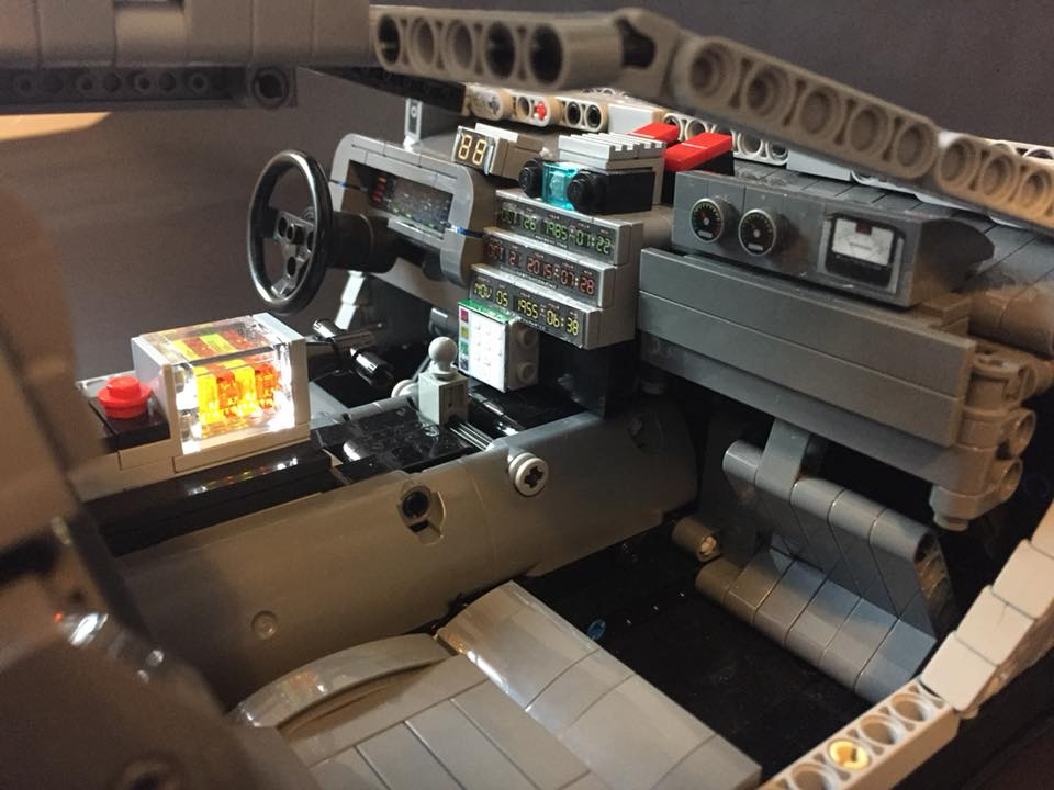 delorean lego technic