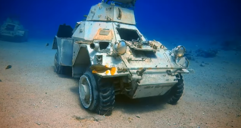 Il museo militare sommerso nel Mar Rosso