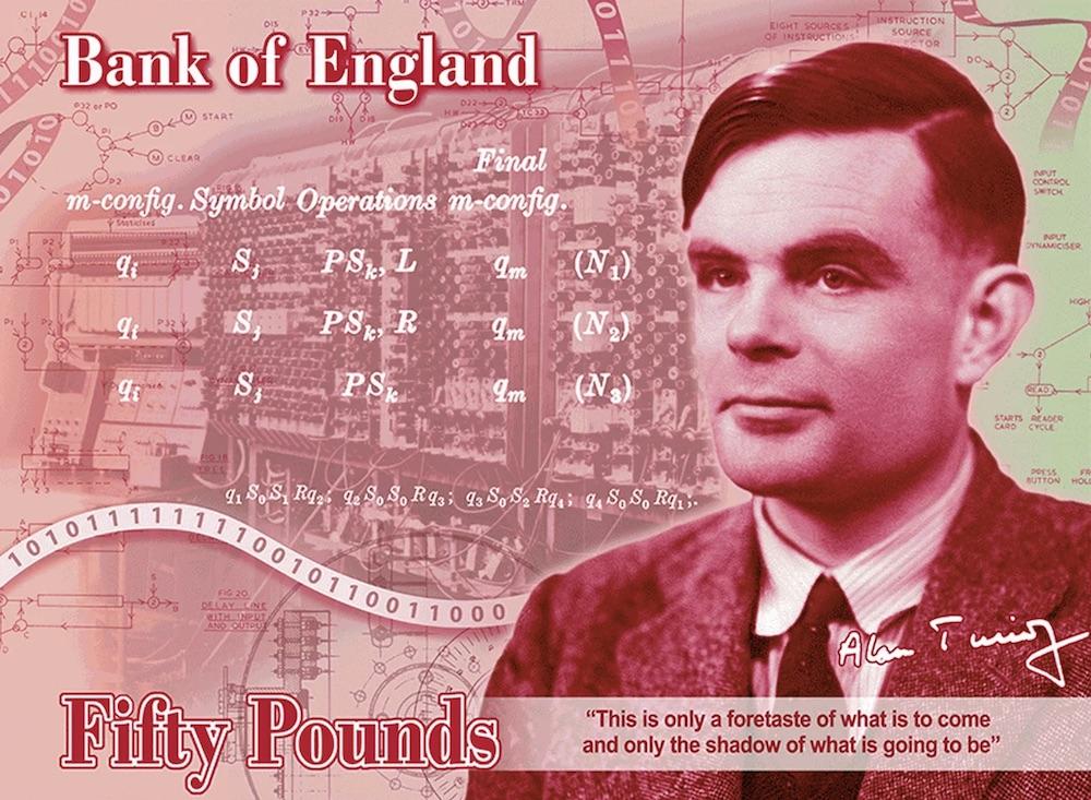 Alan Turing verrà celebrato sulla nuova banconota da 50 sterline