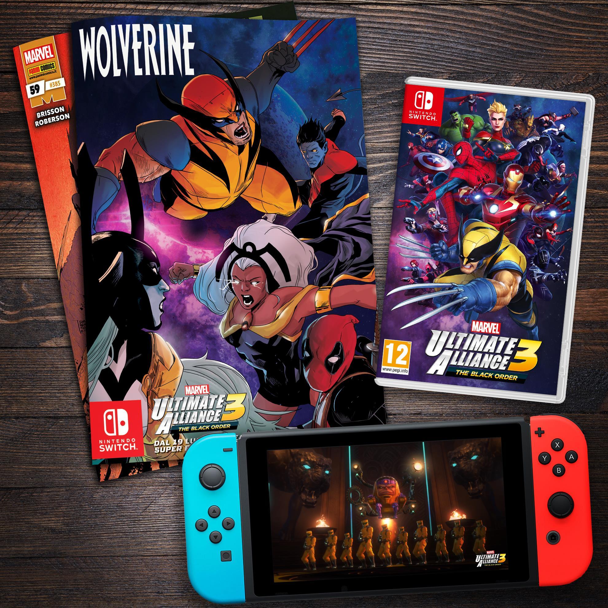Marvel Ultimate Alliance 3: The Black Order - Da Nintendo e Panini ecco una cover variant di Wolverine 59 per celebrarne l'uscita