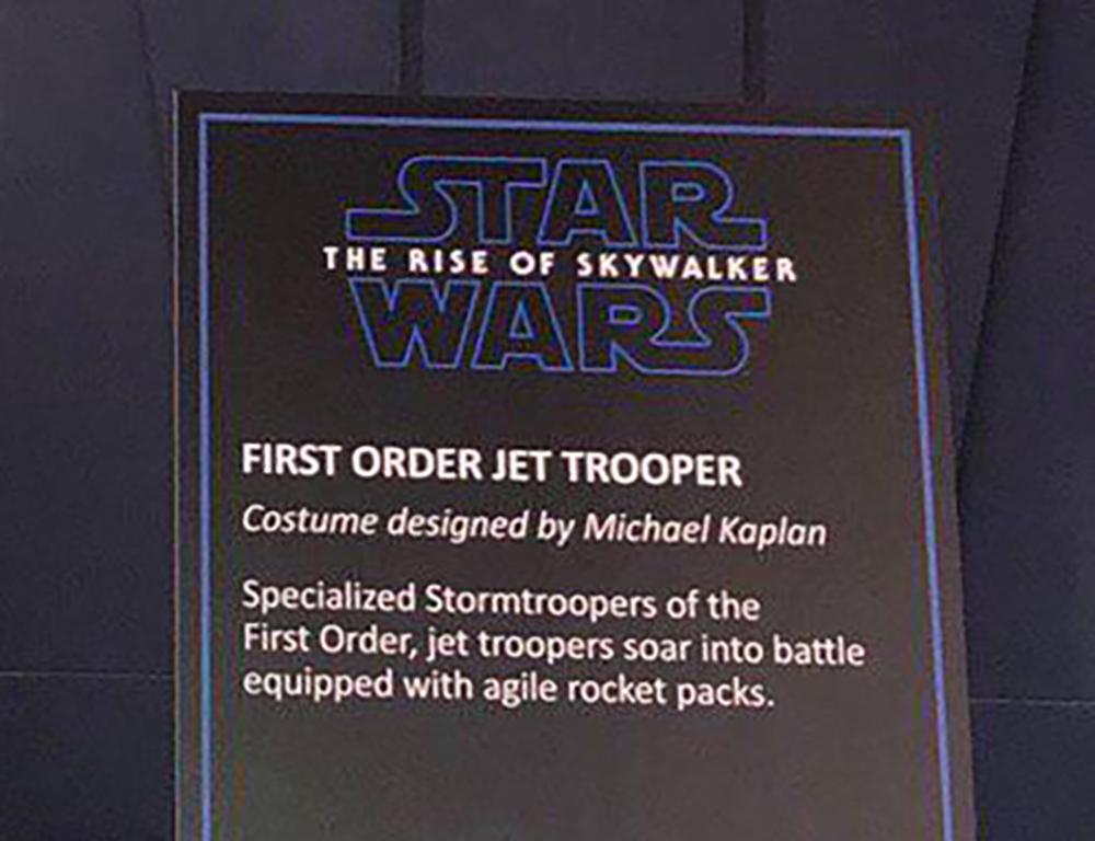 Ecco il nuovo Jet Trooper del Primo Ordine che vedremo in Star Wars: The Rise Of Skywalker