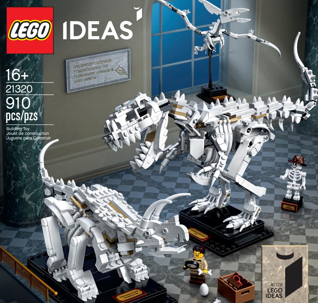LEGO presenta il set 21320 LEGO Ideas Dinosaur Fossils