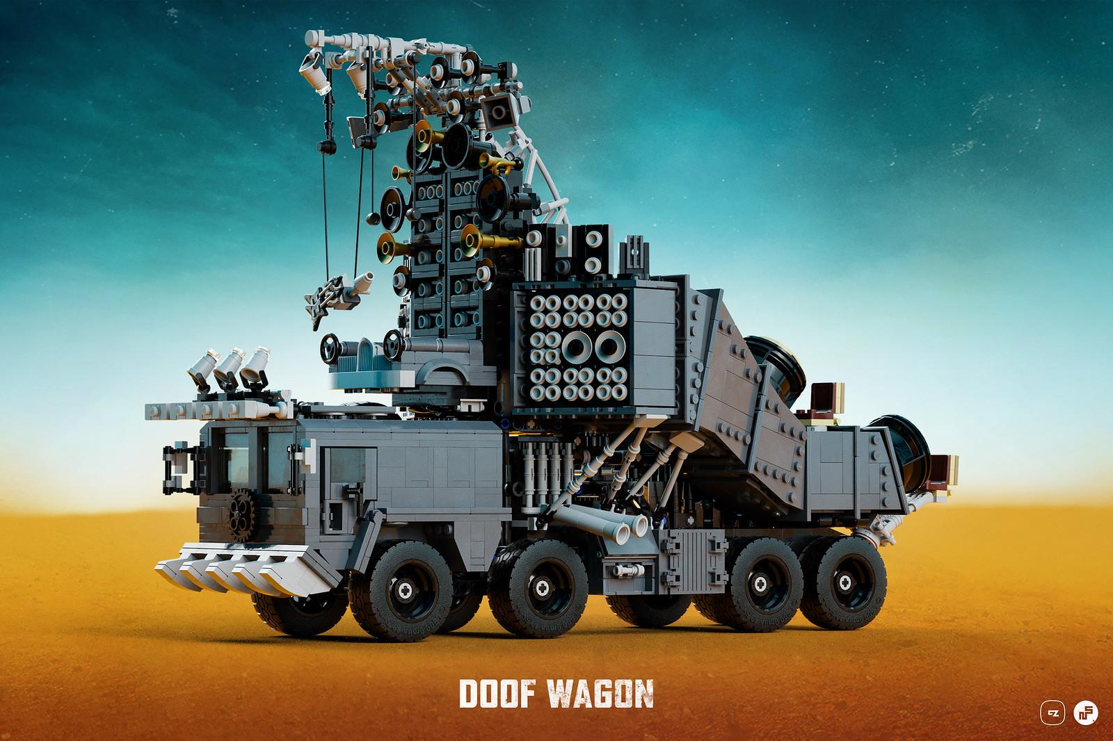 Terminato il Doof Wagon LEGO di Nicola Stocchi