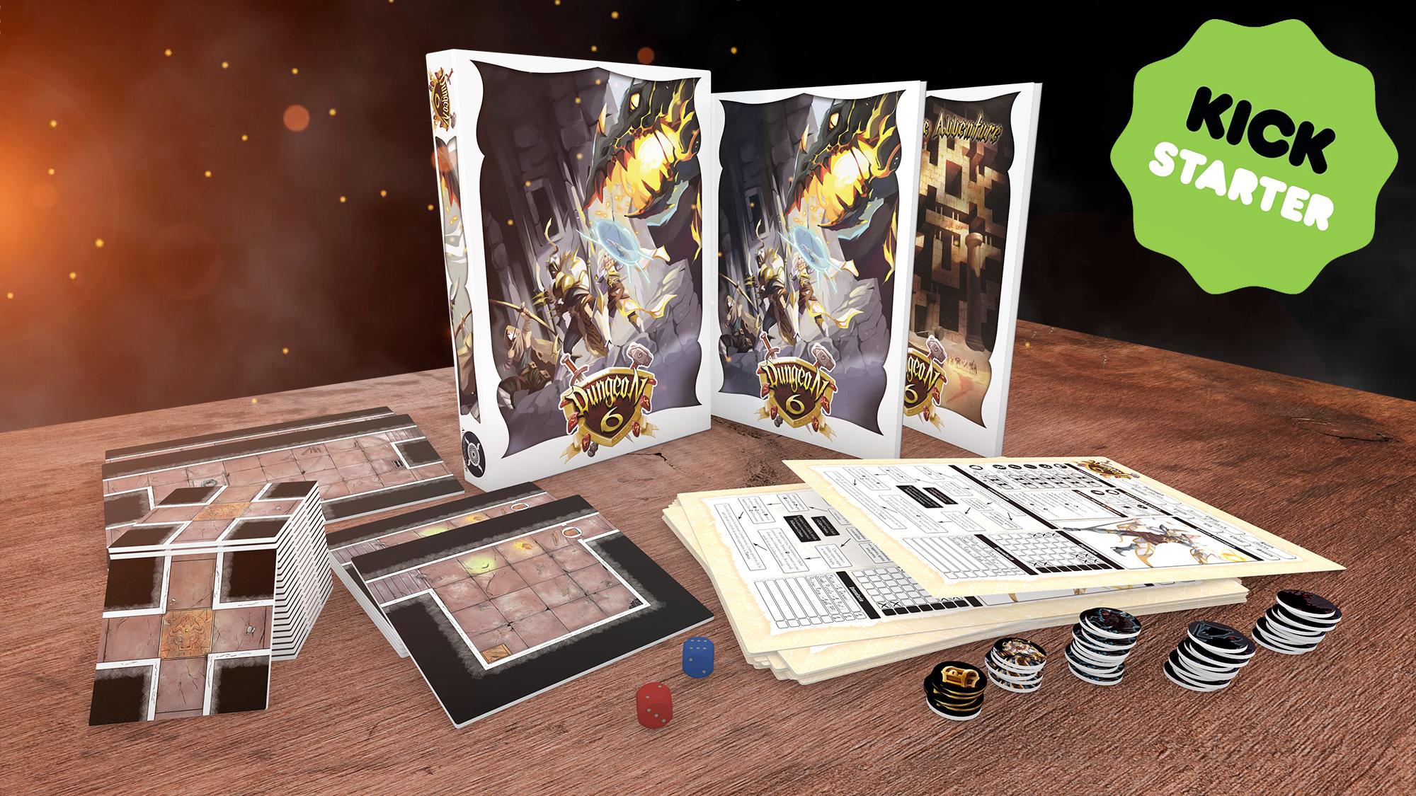 Dungeon 6: un Gioco di Dungeon Modulari, ora su Kickstarter