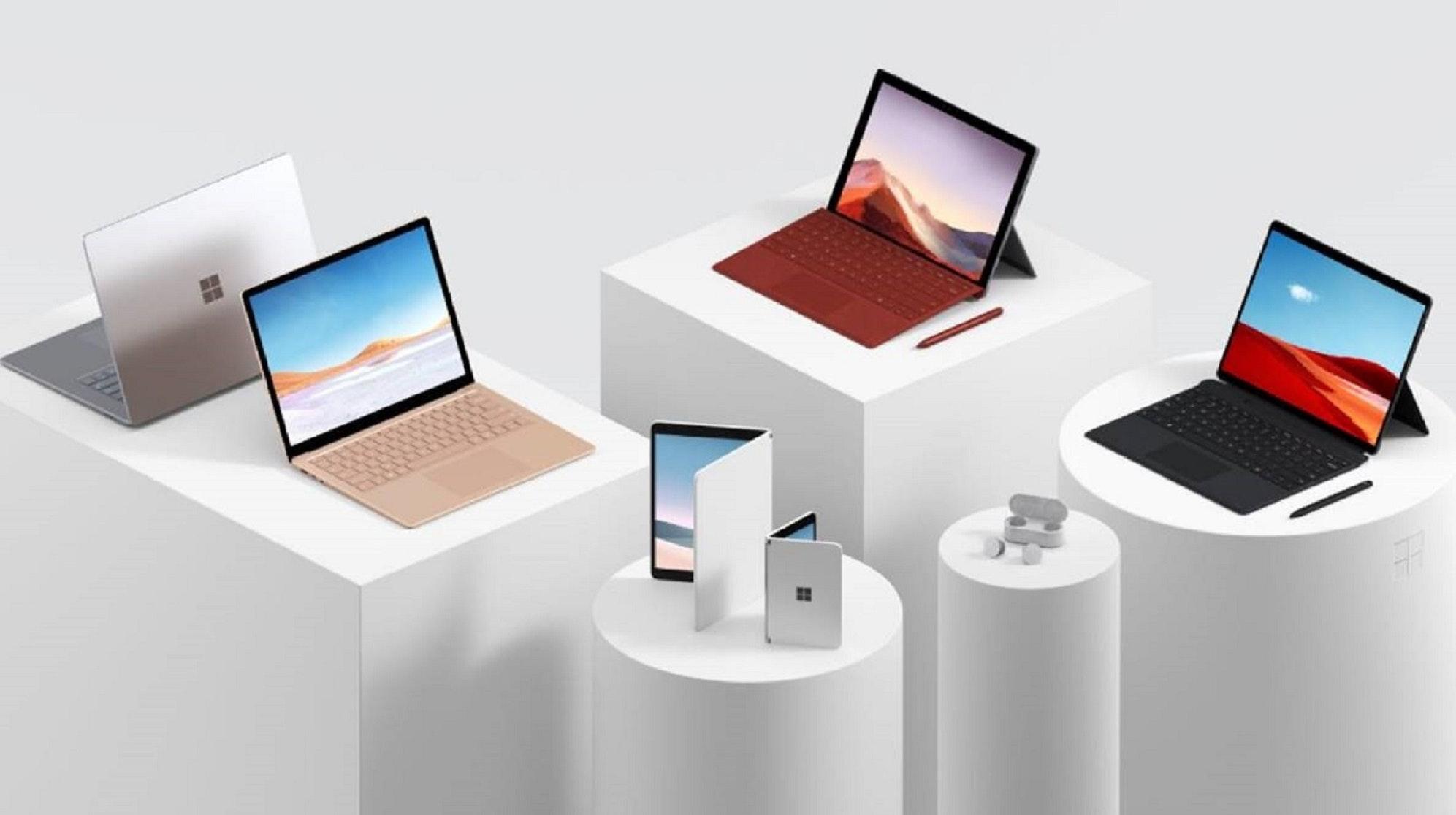 Microsoft presenta Surface Pro 7, Surface Pro X e Surface Laptop 3