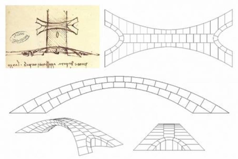 Il ponte ideato da Leonardo da Vinci realizzato in scala per testare la sua stabilità