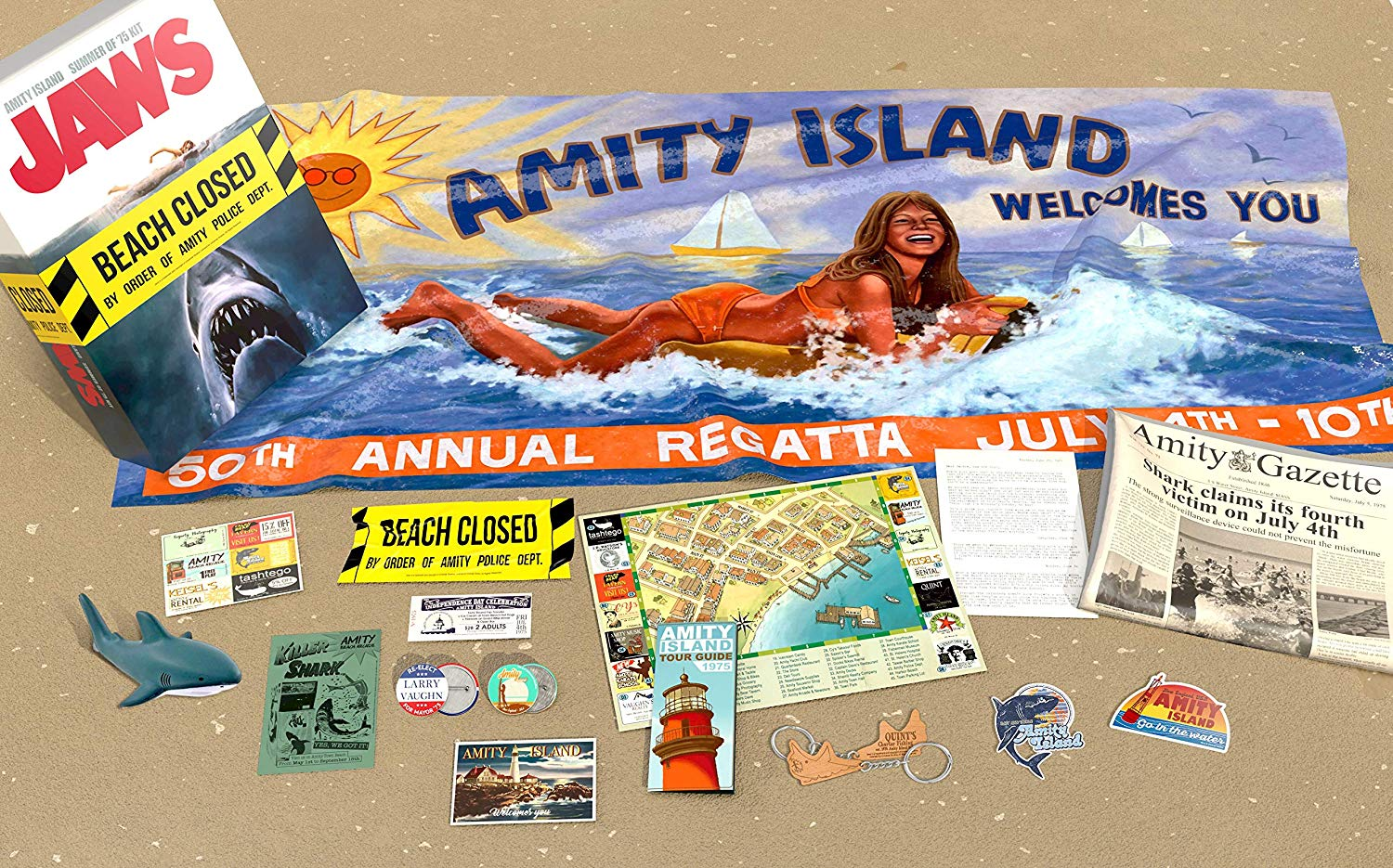 Il Collector Kit de Lo Squalo: Jaws – Amity Island Summer of '75
