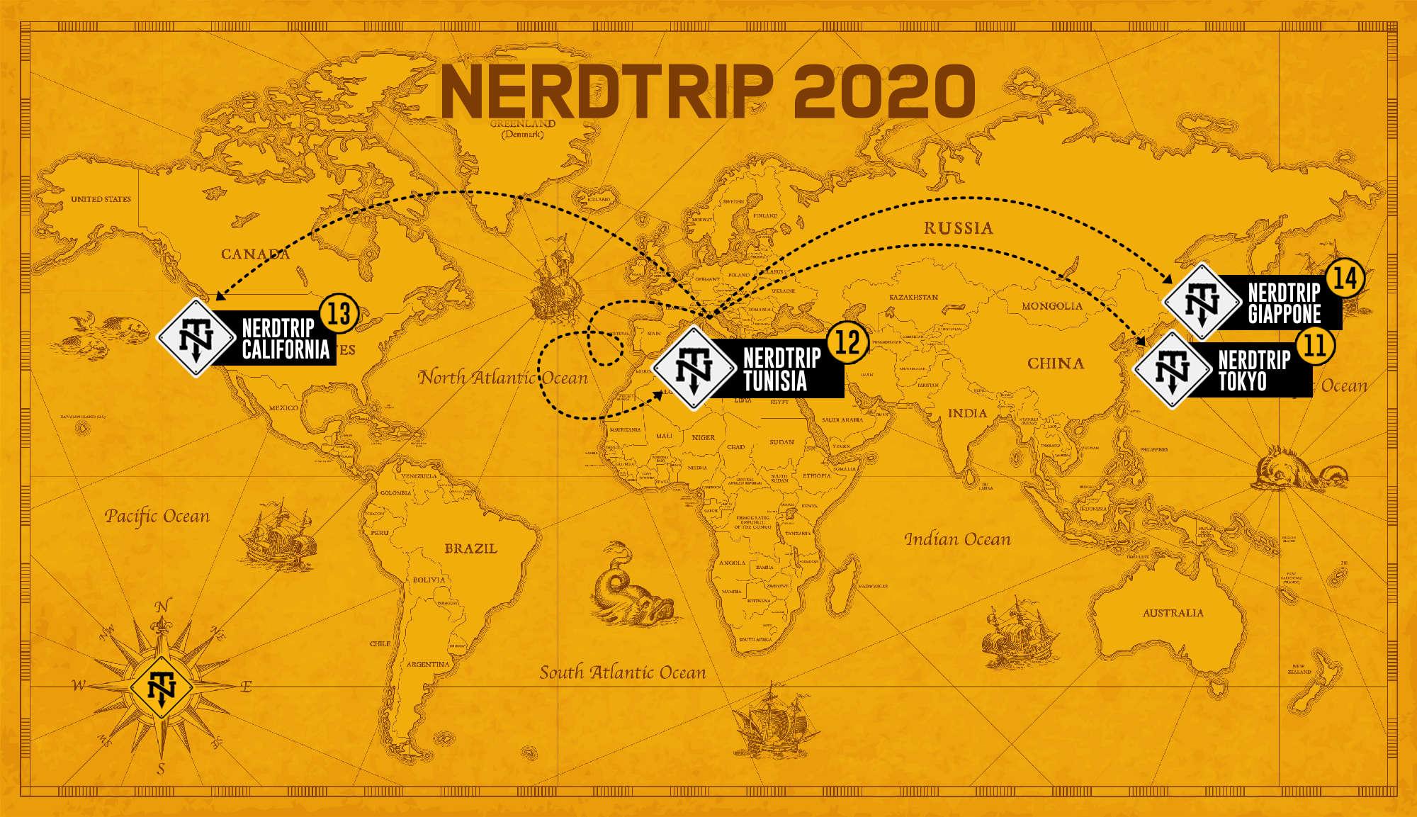 Anteprima NerdTrip 2020: Tokyo, Tunisia, California e Giappone!
