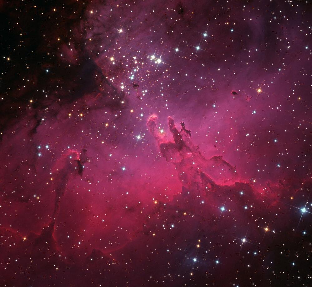 La Nebulosa dell'Aquila nella foto del giorno della NASA