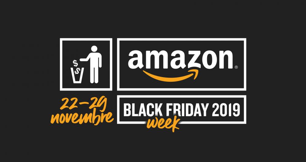 Anteprima Amazon Black Friday Week 2019: il più grande Black
