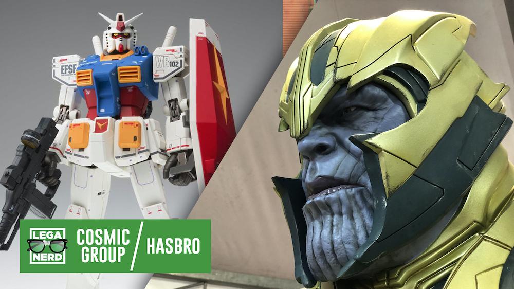 Gli stand di Bandai e di Hasbro a Lucca Comics & Games 2019
