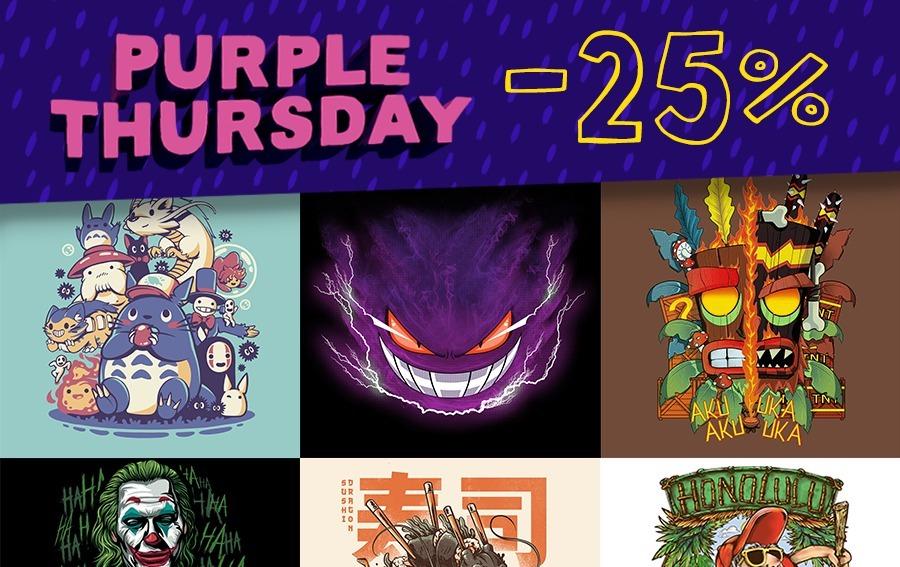 Purple Thursday su TeeTee: tutto col 25% di sconto