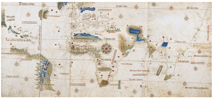Planisfero di Catino che riporta il Meridiano di Tordesillas di Tordesillas