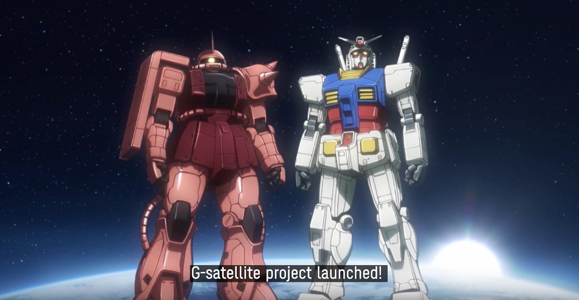 Un piccolo satellite per celebrare i giochi olimpici di Tokyo 2020 con Gundam