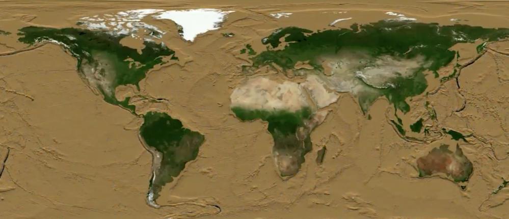 La Terra senza oceani: il video in timelapse