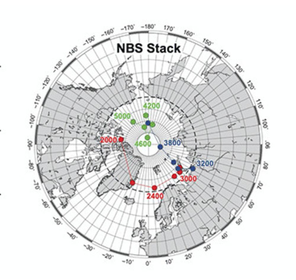 Una ricerca italiana ricostruisce lo spostamento del Polo Nord geomagnetico in Artide
