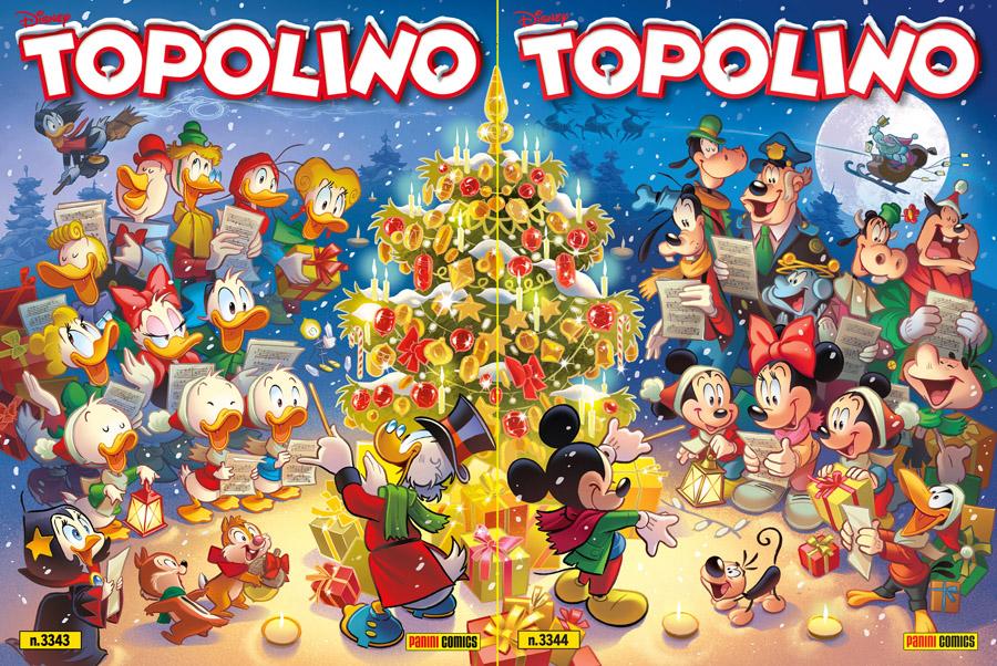 Due cover speciali Natalizie per Topolino