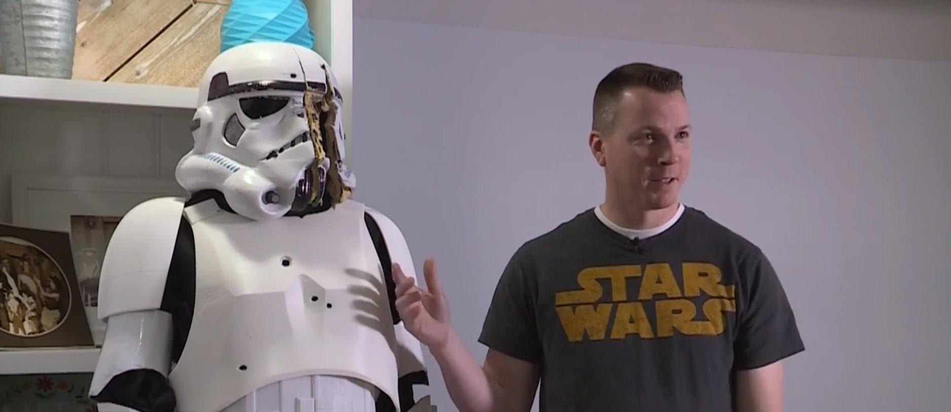 L'uniforme da Stormtrooper stampata in 3D e a prova di proiettile