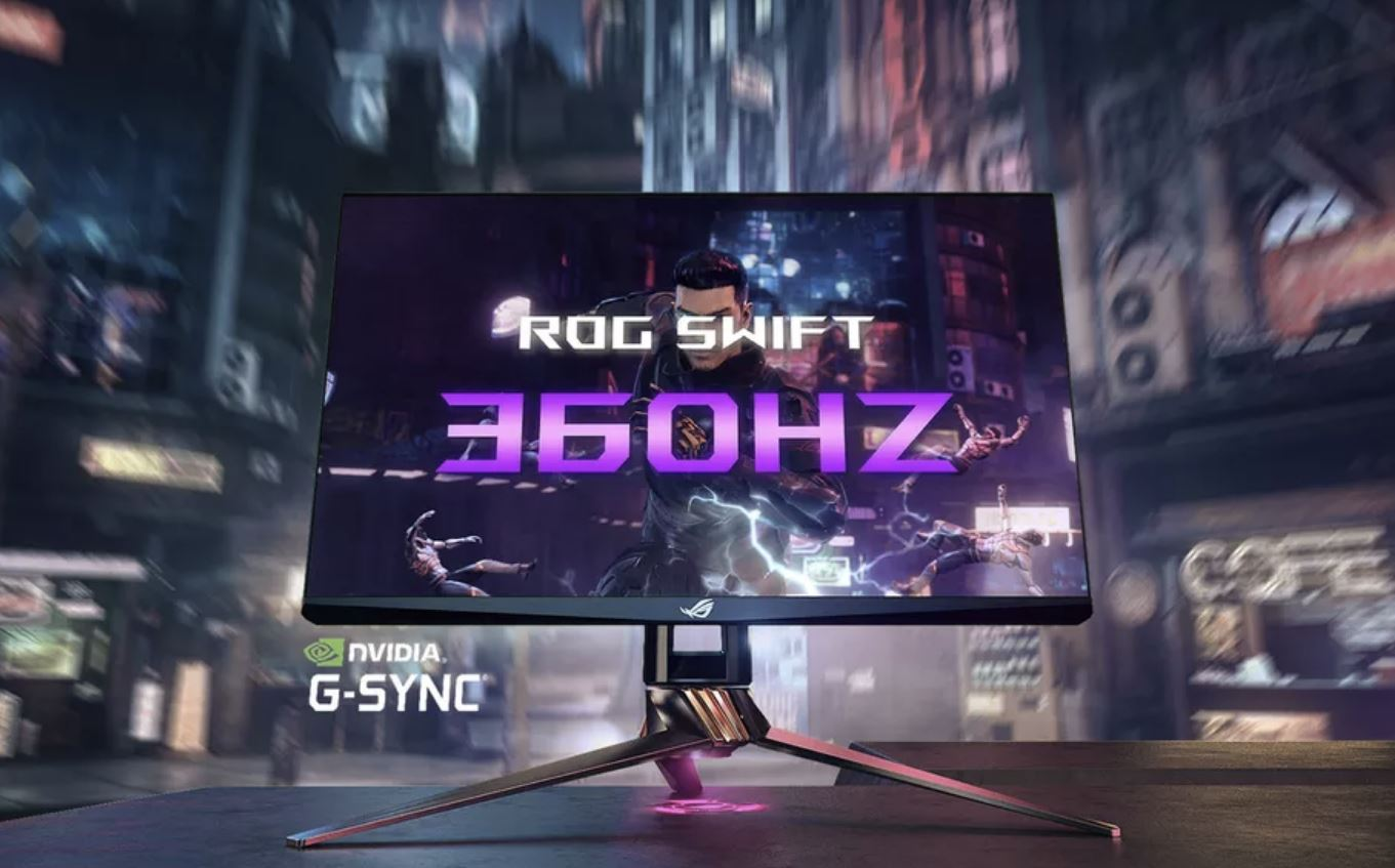 L'Asus ROG Swift 360 è il primo monitor con refresh rate massimo a 360Hz