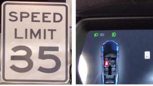 Autopilot di Tesla viene ingannato modificando il segnale stradale con il nastro adesivo
