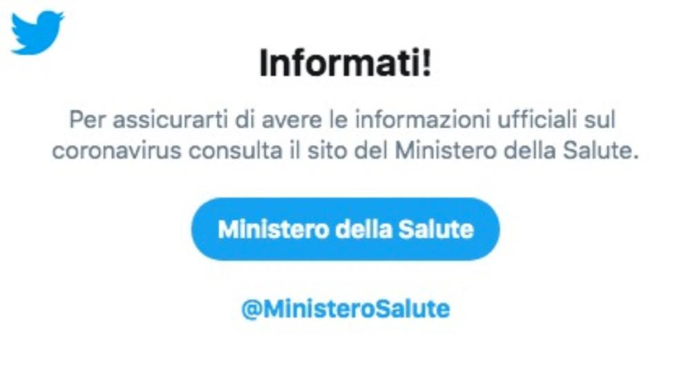 Coronavirus: un accordo con Twitter contro le Fake News
