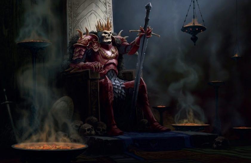 Rappan Athuk - skeleton king
