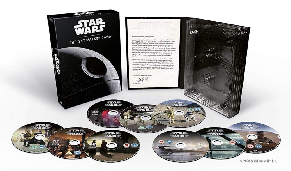 Star Wars: The Skywalker Saga Complete Collection, versione DVD