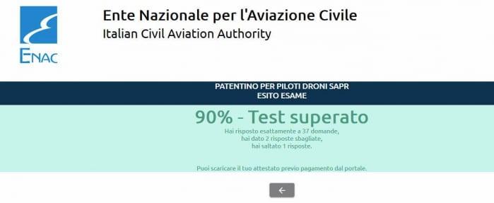 Test Attestato APR risultato