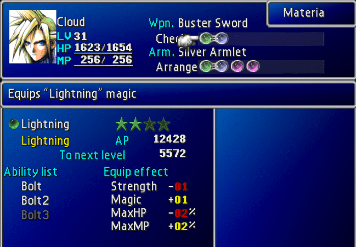 Final Fantasy VII - Materia