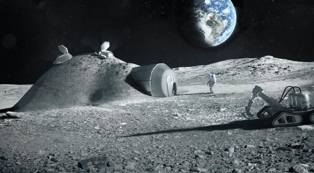 Urina degli astronauti per costruire basi lunari