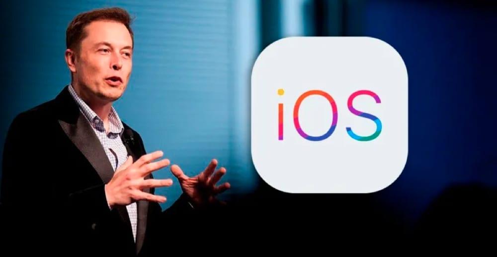 Elon Musk critica la qualità di iOS 13