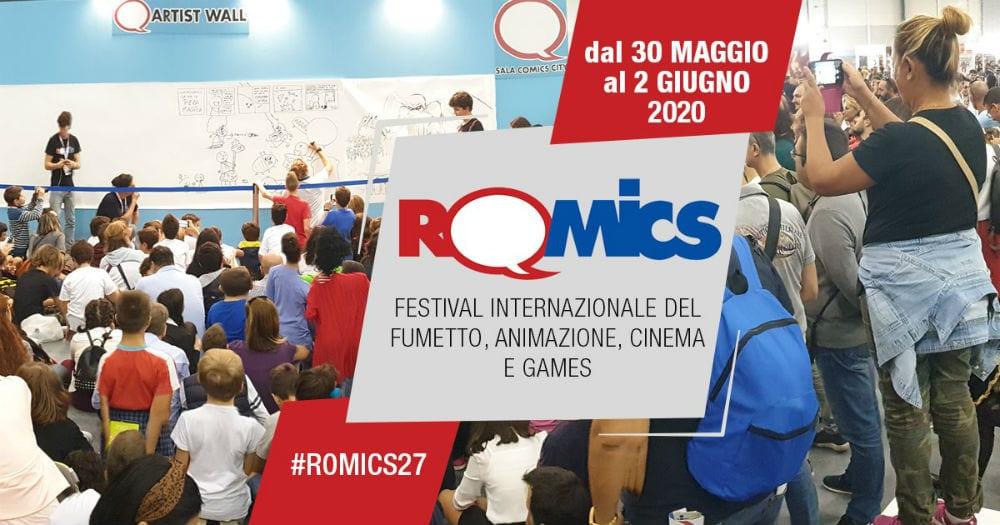 Romics, l'edizione primaverile è stata rinviata a maggio