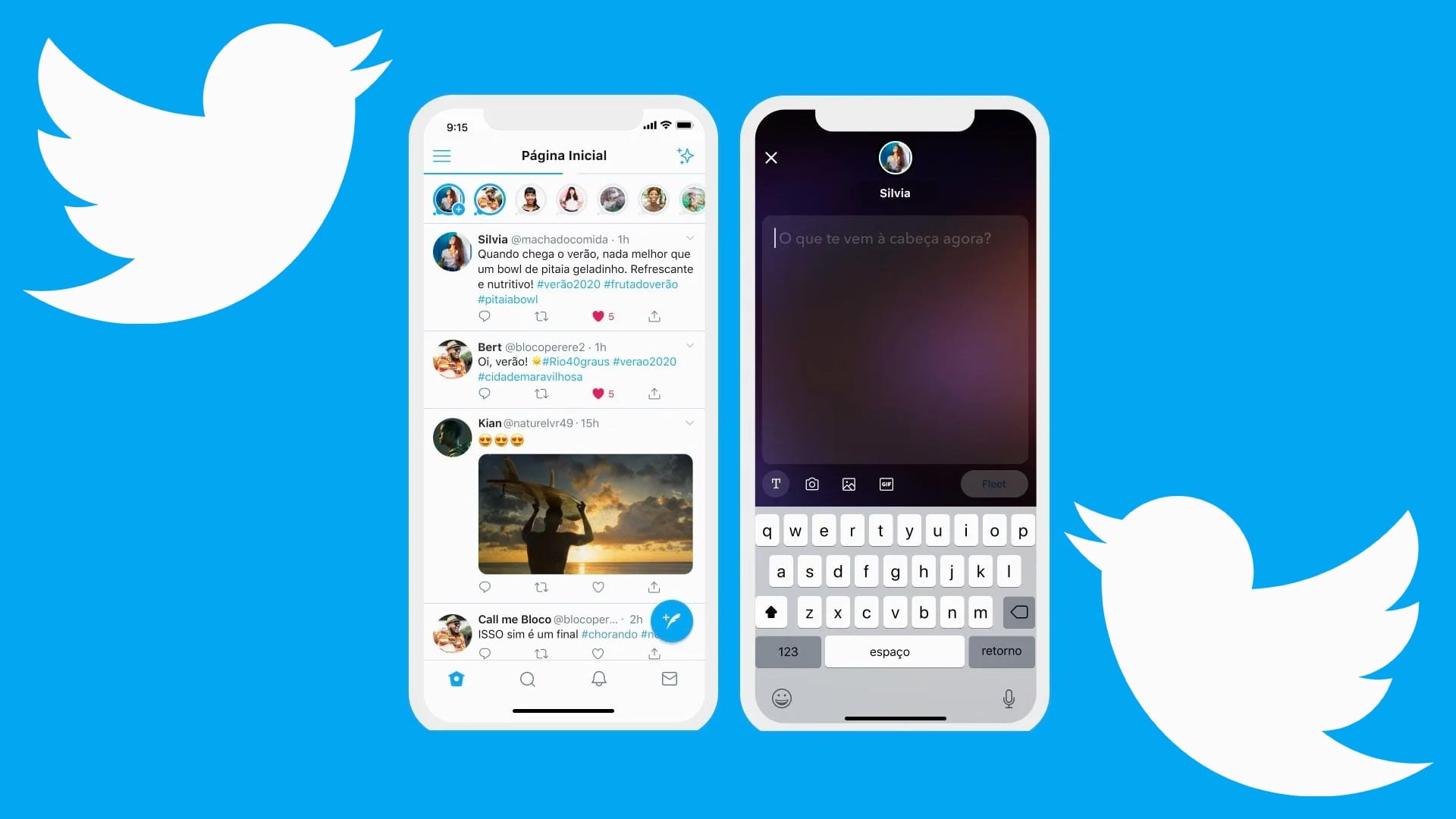 Twitter Storie Fleets