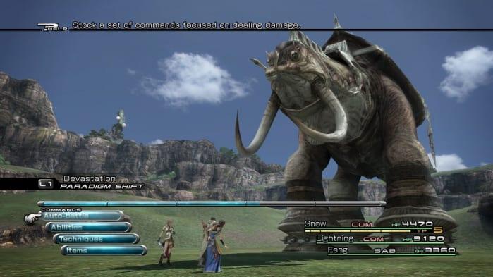 Final Fantasy XIII - battle