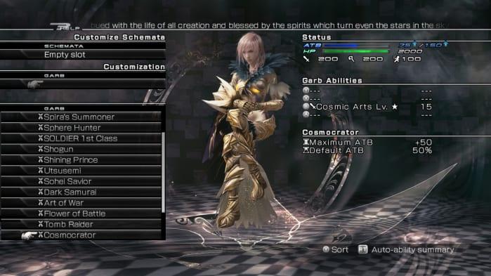 Lightning Returns FFXIII - garbs