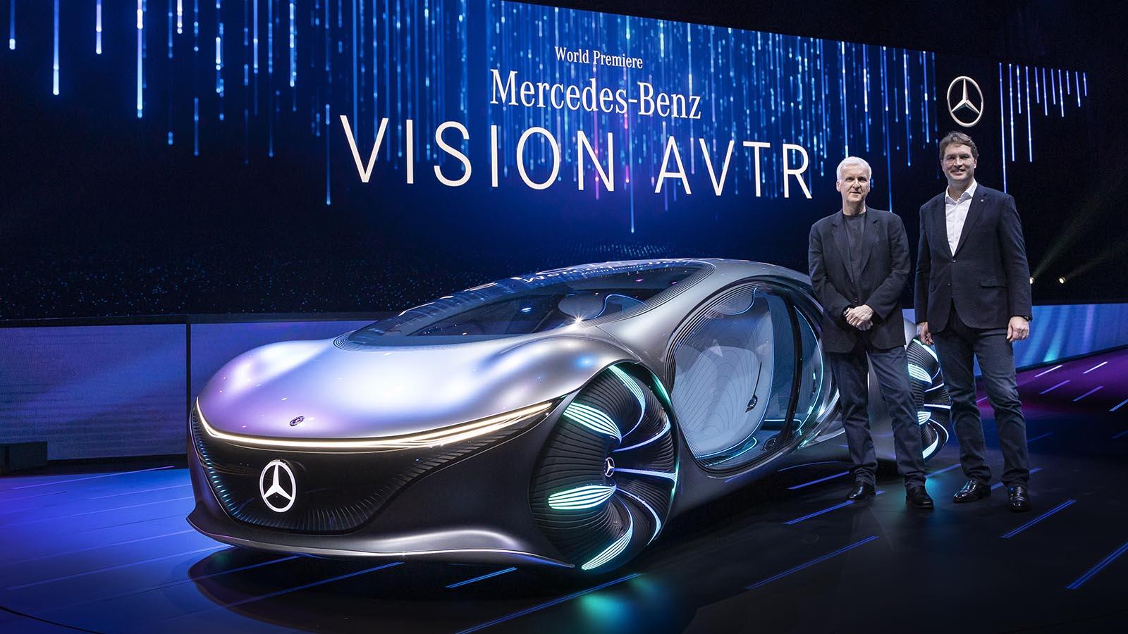 Mercedes Vision AVTR: l'elettrica del futuro in collaborazione con James Cameron
