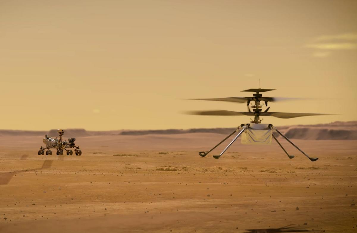 Ingenuity: come funziona il drone volante della NASA su Marte