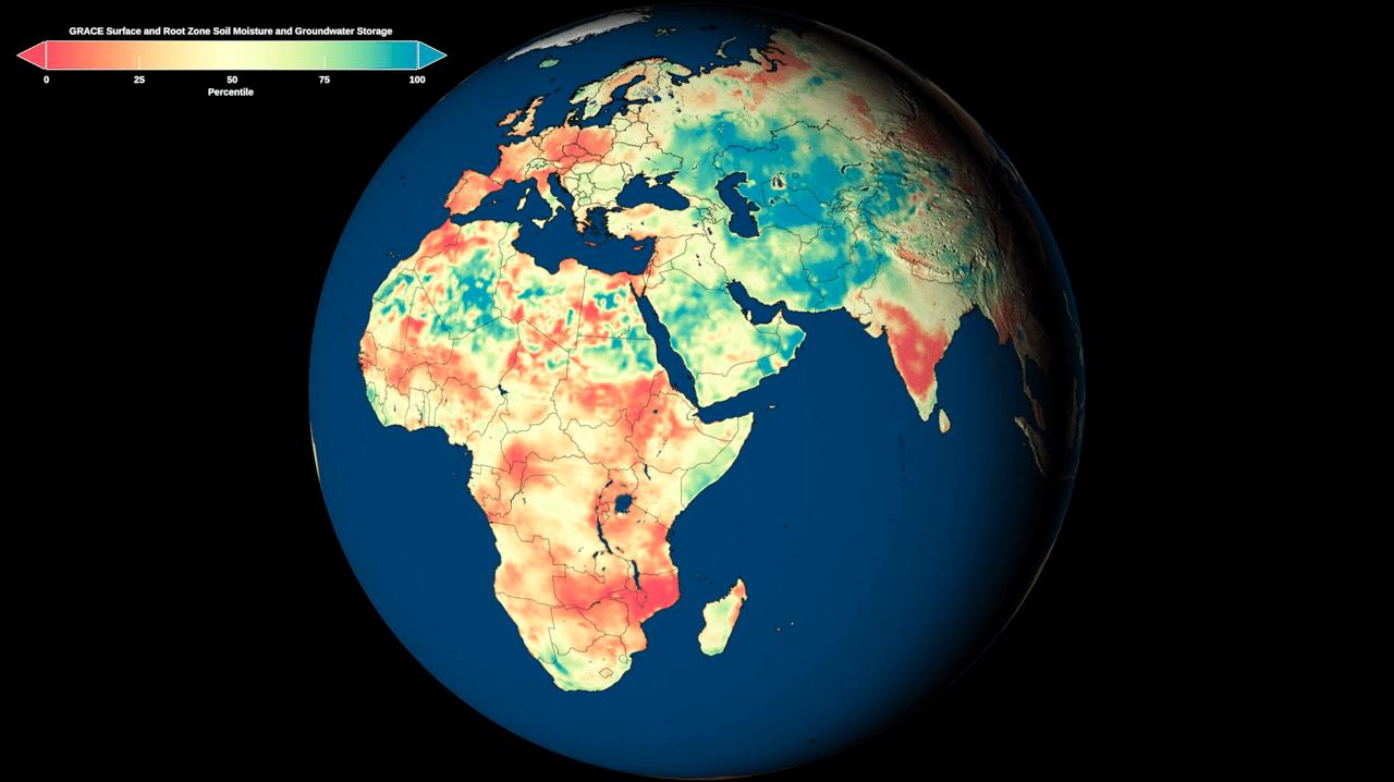 Nuove mappe globali sulle condizioni di umidità rilasciate della NASA