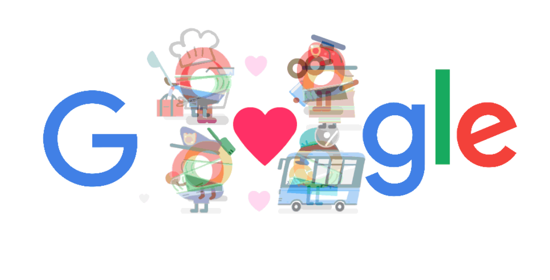 Coronavirus: il Doodle di Google per dire grazie
