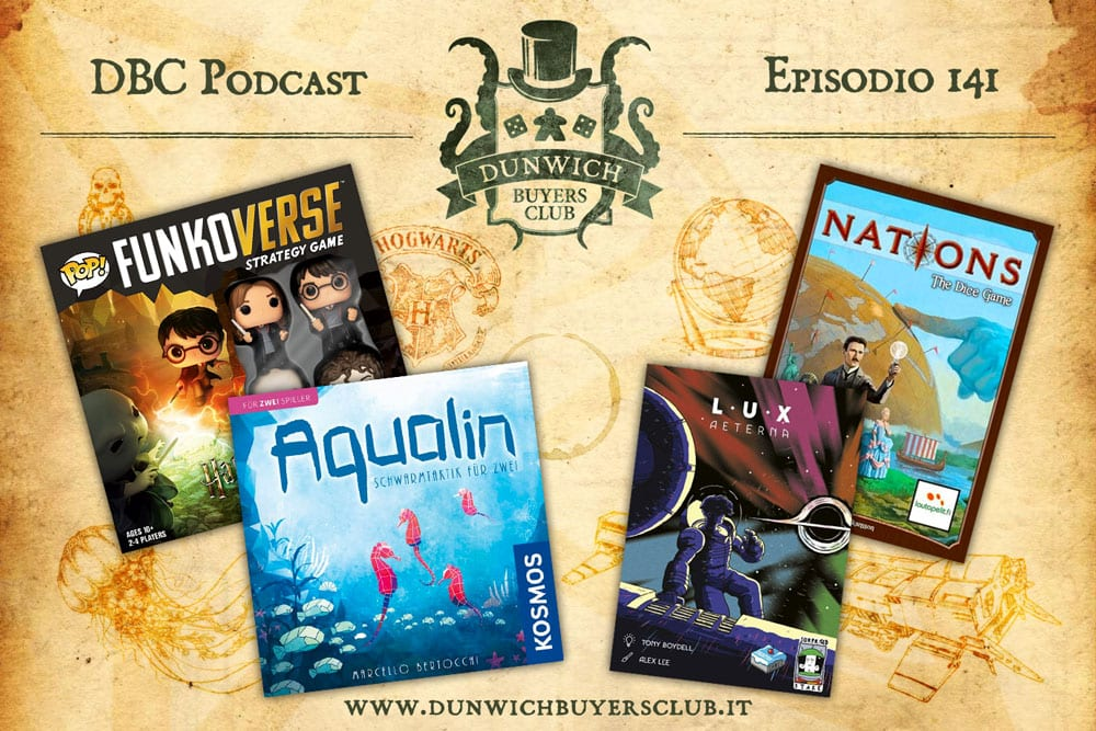 DBC 141: Funkoverse Strategy Game: Harry Potter, Aqualin, Lux Aeterna, Nations: The Dice Game