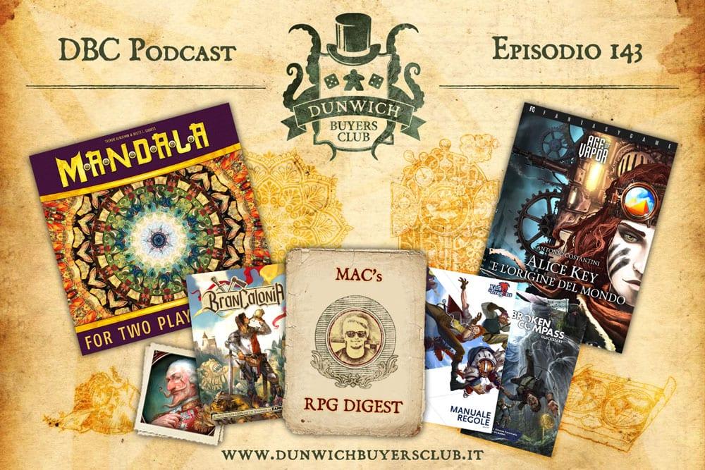 DBC 143: Mandala, RPG Digest, Age of Vapor Librogame