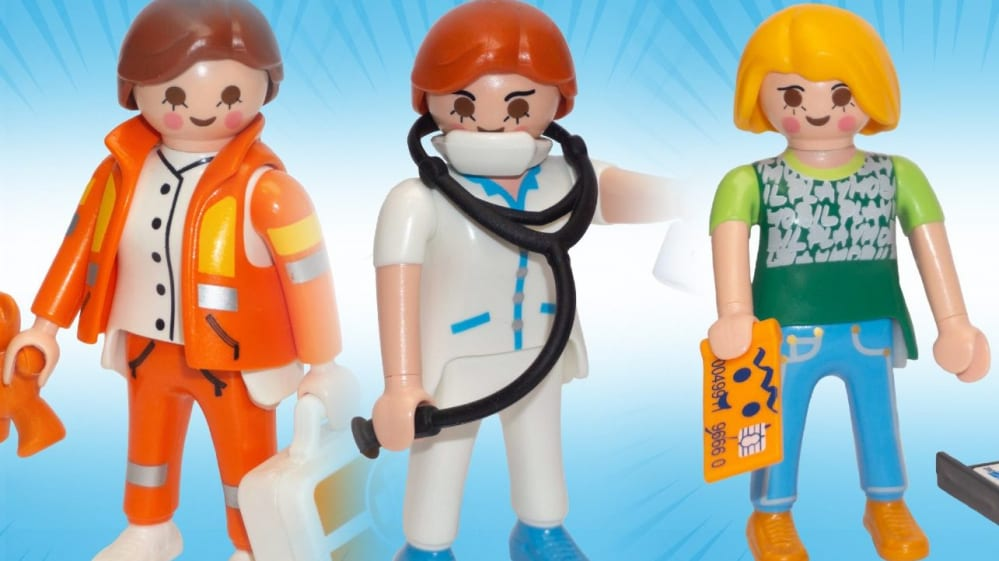 Playmobil eroi coronavirus
