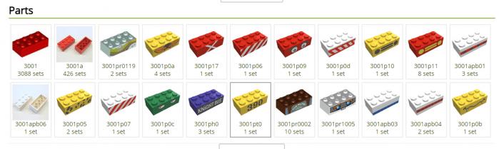 acquistare pezzi lego
