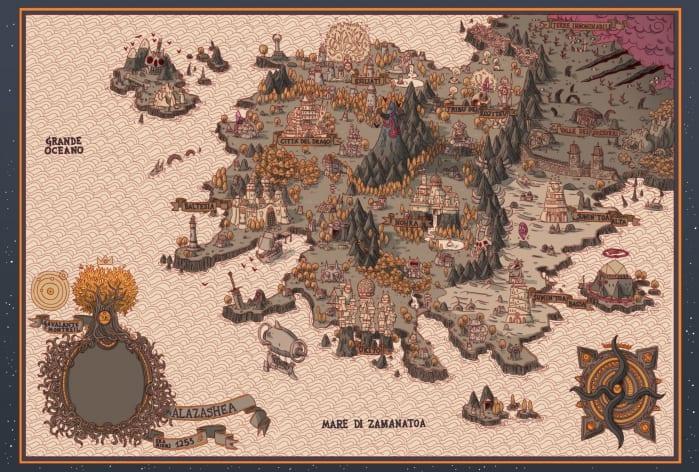 Alazashea Mappa