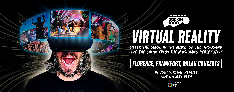 Rockin'1000 Virtual Reality: riguardate in realtà virtuale i concerti di Rockin'1000 su Eyeora