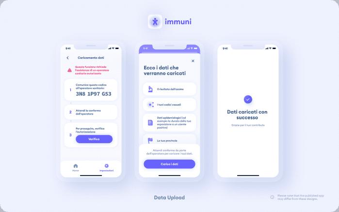 Immuni - Data Upload