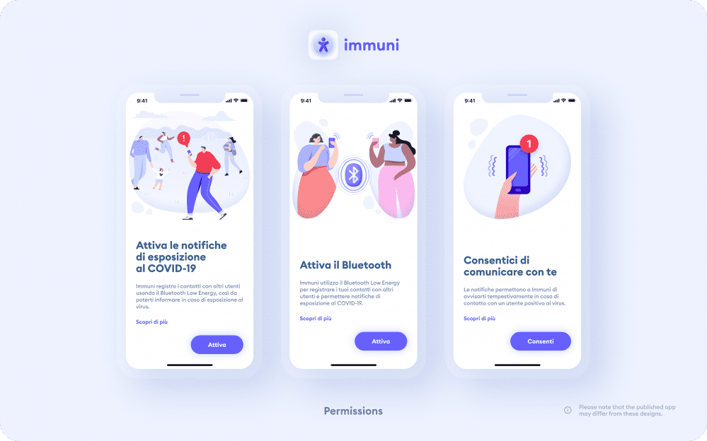 Immuni - Permissions