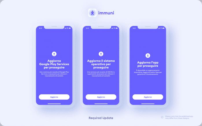 Immuni - Required Update