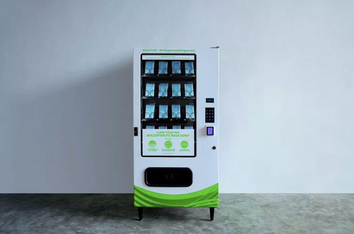 Razer, distributori automatici per consegnare le mascherine a Singapore