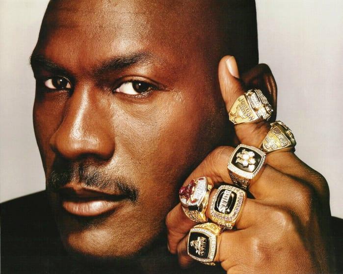 Michael Jordan 6 rings